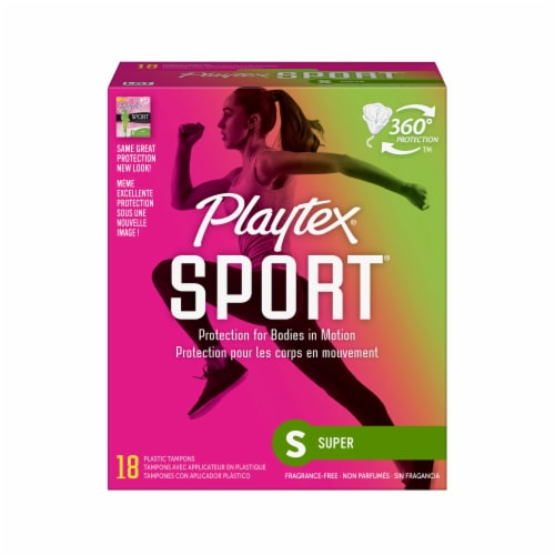 Playtex Sport Super Tampons 18 Count Perspective: front