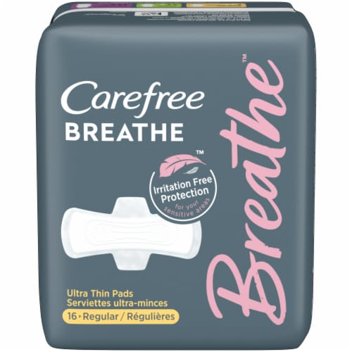 Carefree Breathe Ultra Thin Regular Pads Perspective: front