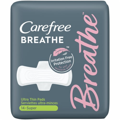 Carefree Breathe Super Ultra Thin Pads Perspective: front