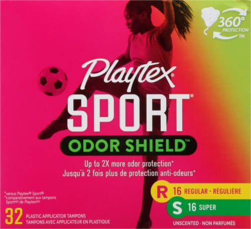 Playtex Sport Odor Shield Unscented Tampons Multipack Perspective: front