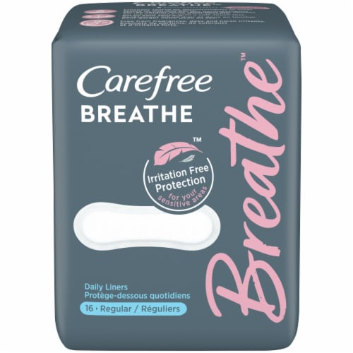 Carefree™ Breathe™ Daily Panty Liners Perspective: front