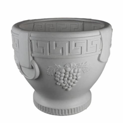 Union Products 53521SC Classic Roman Concrete Grape Pattern Urn Planter Perspective: front