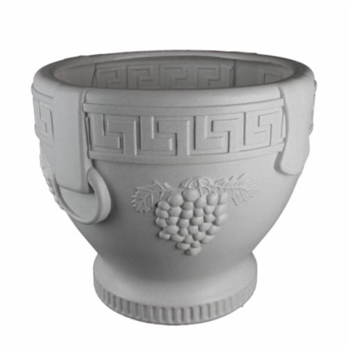 Union Products 53524SC 12.25 in. Union Grape Urn - Black Perspective: front