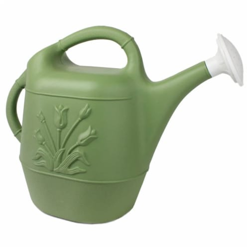 Union Products 63068 Plants & Garden 2 Gallon Plastic Watering Can, Sage Green Perspective: front