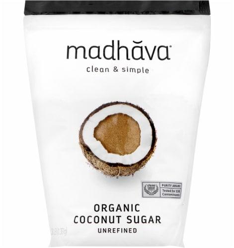 Madhava Organic Unrefined Coconut Sugar Perspective: front