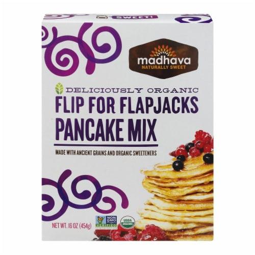 Madhava Organic Flip For Flapjacks Pancake Mix Perspective: front