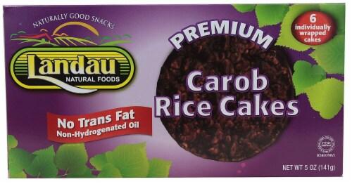 Landau Premium Carob Rice Cakes Perspective: front