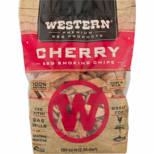 Western® Cherry BBQ Smoking Chips Perspective: front