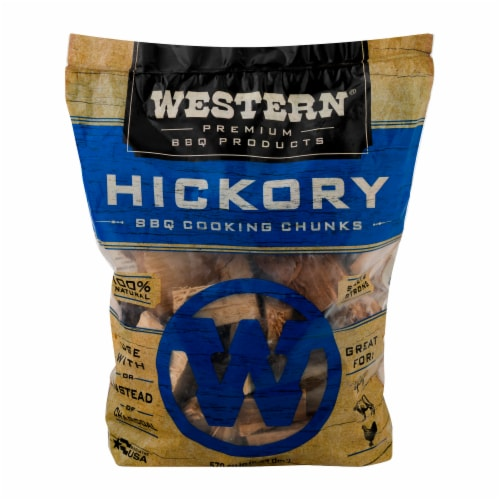 Western® Hickory Wood BBQ Cooking Chunks Perspective: front