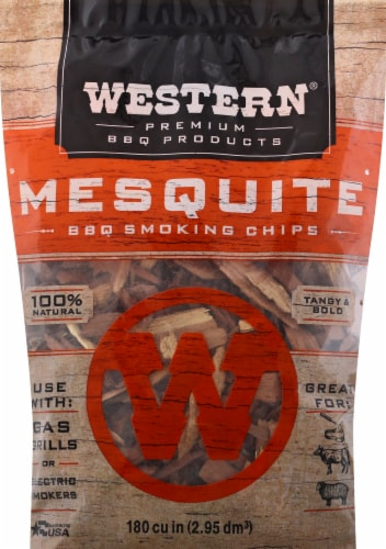 Western® Mesquite BBQ Smoking Chips Perspective: front