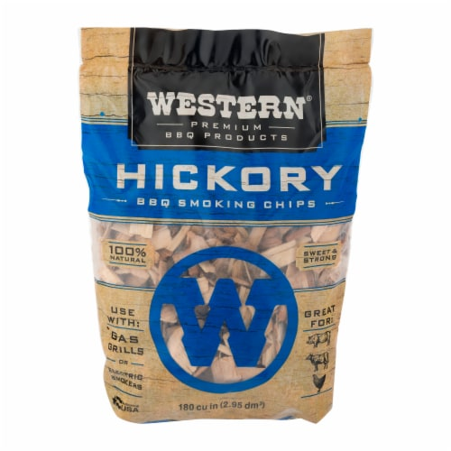 Western® Hickory BBQ Smoking Chips Perspective: front