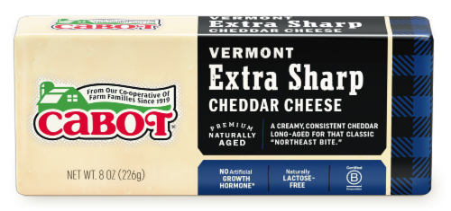 Cabot Vermont Extra Sharp White Cheddar Cheese Perspective: front