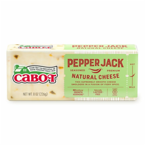 Cabot Pepper Jack Natural Cheese Perspective: front