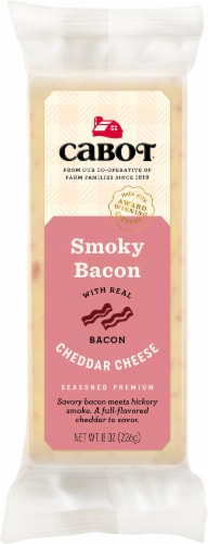Cabot® Smoky Bacon Cheddar Cheese Perspective: front