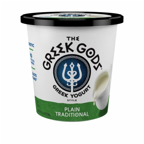The Greek Gods Traditional Plain Greek Yogurt Perspective: front