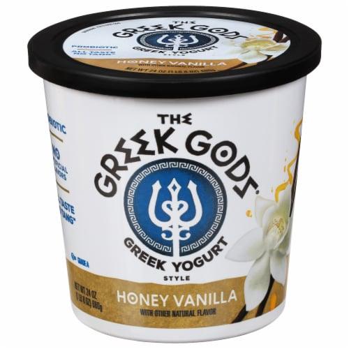 The Greek Gods Honey Vanilla Greek Style Yogurt Perspective: front