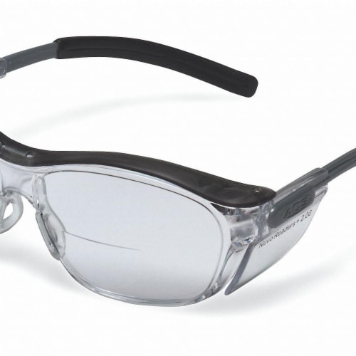 3m Bifocal Safety Read Glasses,+2.00,Gray  11501-00000-20 Perspective: front