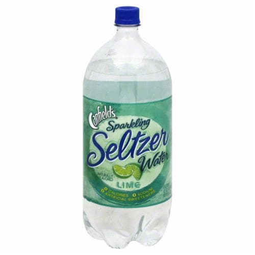 Canfield's Sparkling Seltzer Water Lime Perspective: front