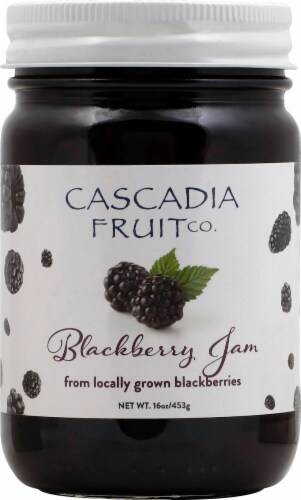 Cascadia Fruit Co. Blackberry Preserves Perspective: front