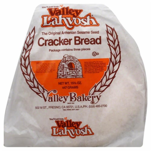 Valley Lahvosh Bakery Wheat Cracker Bread Perspective: front