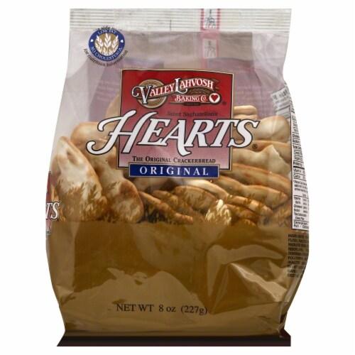 Valley Lahvosh Original Hearts Crackerbread Perspective: front