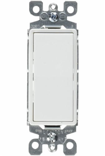 Leviton Decora White AC Quiet Switch Rocker Perspective: front