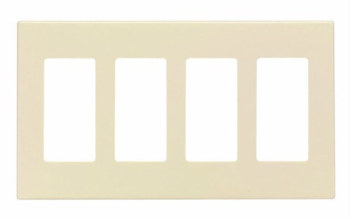 Leviton Almond 4 gang Polycarbonate Rocker Screwless Wall Plate 1 pk - Case Of: 1; Each Pack Perspective: front