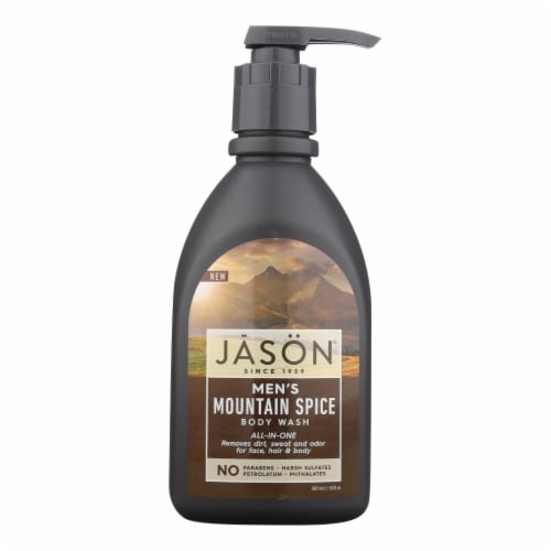 Jason Men's Mountain Spice All-In-One Body Wash Perspective: front