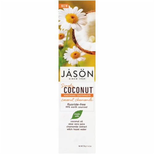 Jason Simply Coconut Soothing Toothpaste Perspective: front