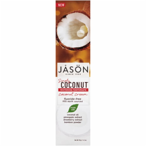 Jason Simply Coconut Whitening Toothpaste Perspective: front