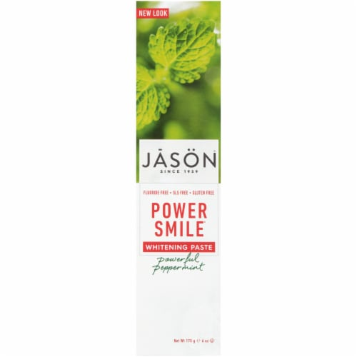 Jason Powersmile Powerful Peppermint Whitening Toothpaste Perspective: front