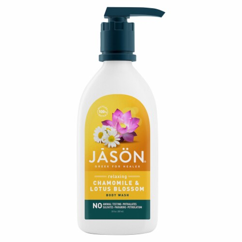 Jason Relaxing Chamomile & Lotus Blossom Body Wash Perspective: front