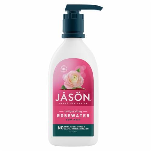Jason Invigorating Rosewater Body Wash Perspective: front