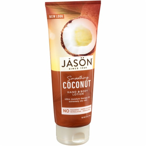 Jason Smoothing Coconut Hand & Body Lotion Perspective: front