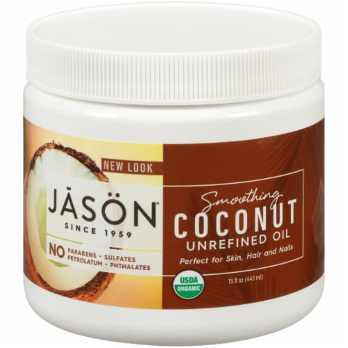 Jason Smoothing Unrefined Coconut Oil Perspective: front
