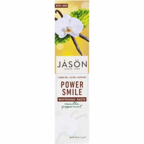 Jason Power Smile Vanilla Peppermint Whitening Toothpaste Perspective: front