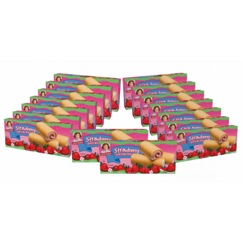 Strawberry Shortcake Rolls, 16 Boxes of 96 Individually Wrapped Fruit Filled Rolls Perspective: front