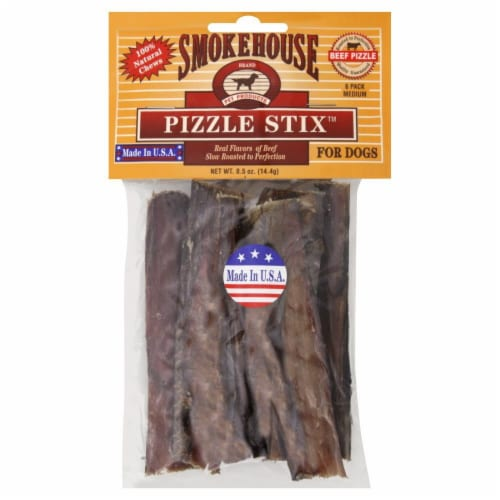 Smokehouse Pizzle Sticks for Dogs Perspective: front