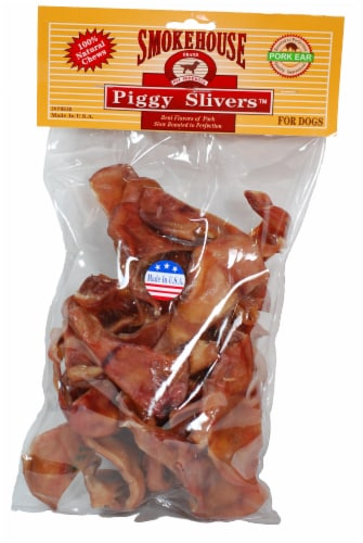 Smokehouse Piggy Slivers Dog Treats Perspective: front