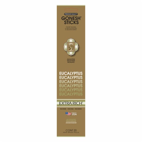 Gonesh® Extra Rich Eucalyptus Incense Sticks Perspective: front