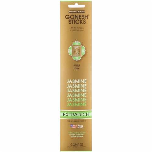 Gonesh® Extra Rich Collection Jasmine Incense Sticks Perspective: front