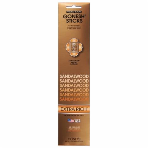 Gonesh® Extra Rich Sandalwood Incense Sticks Perspective: front