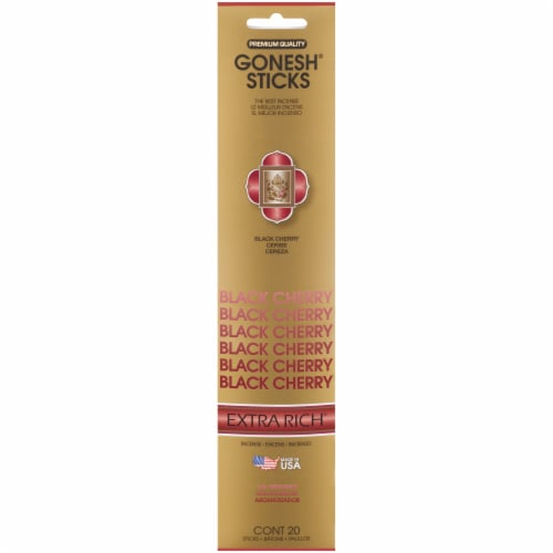Gonesh® Extra Rich Collection Black Cherry Incense Sticks Perspective: front