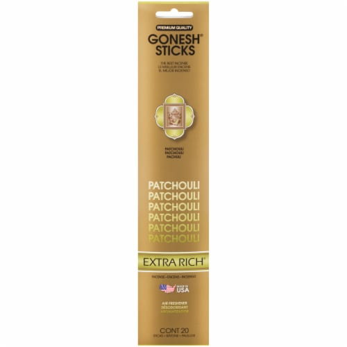 Gonesh® Extra Rich Collection Patchouli Incense Sticks Perspective: front