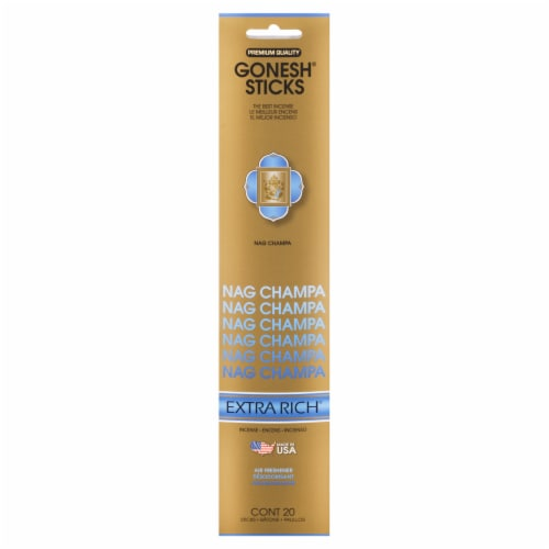 Gonesh® Extra Rich Collection Nag Champa Incense Sticks Perspective: front