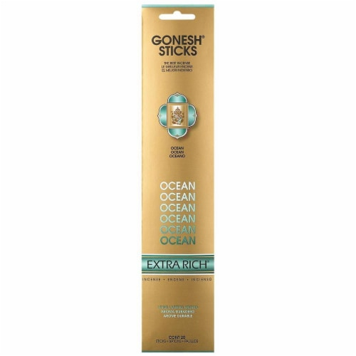 Gonesh® Extra Rich Collection Ocean Incense Sticks - 20 Pack Perspective: front