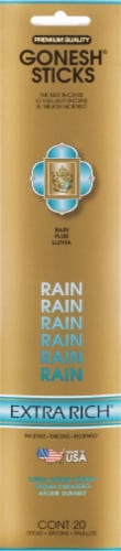 Gonesh® Extra Rich Rain Incense Sticks Perspective: front