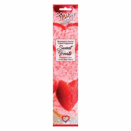 Gonesh® Sweet Treats Strawberry Pound Cake Fragrance Incense Sticks Perspective: front