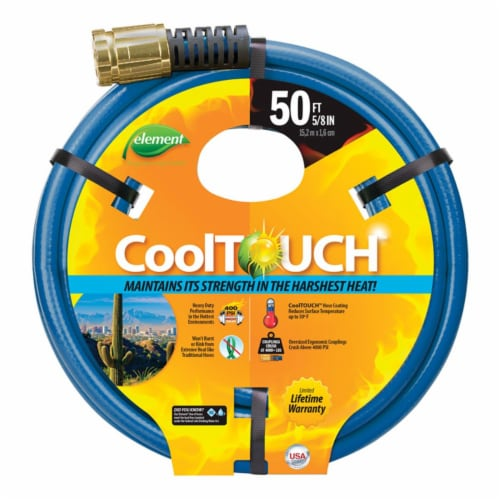 Element CoolTouch 5/8 In. Dia. x 50 Ft. L. Drinking Water Safe Garden Hose Perspective: front