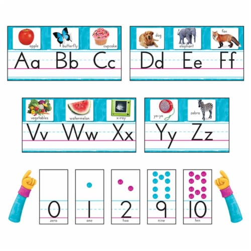 Color Harmony Photo Alphabet Bulletin Board Set Perspective: front